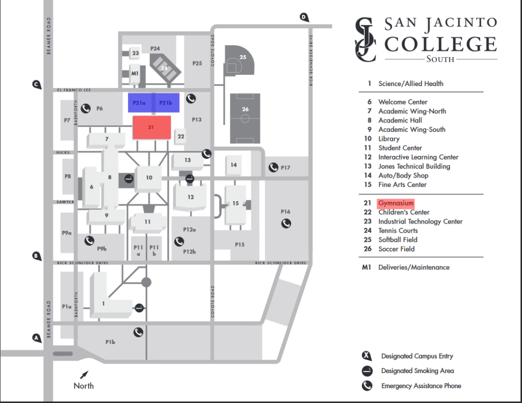 san jacinto college campus map San Jac North Campus Map Campus Map